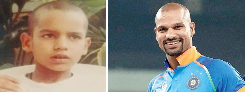 Indian cricketer's Childhood Pictures