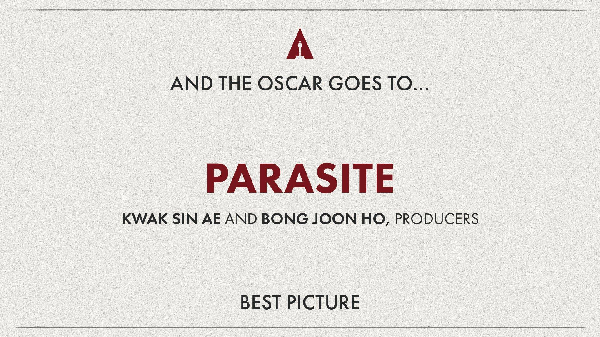 Parasite Movie Oscar 2020