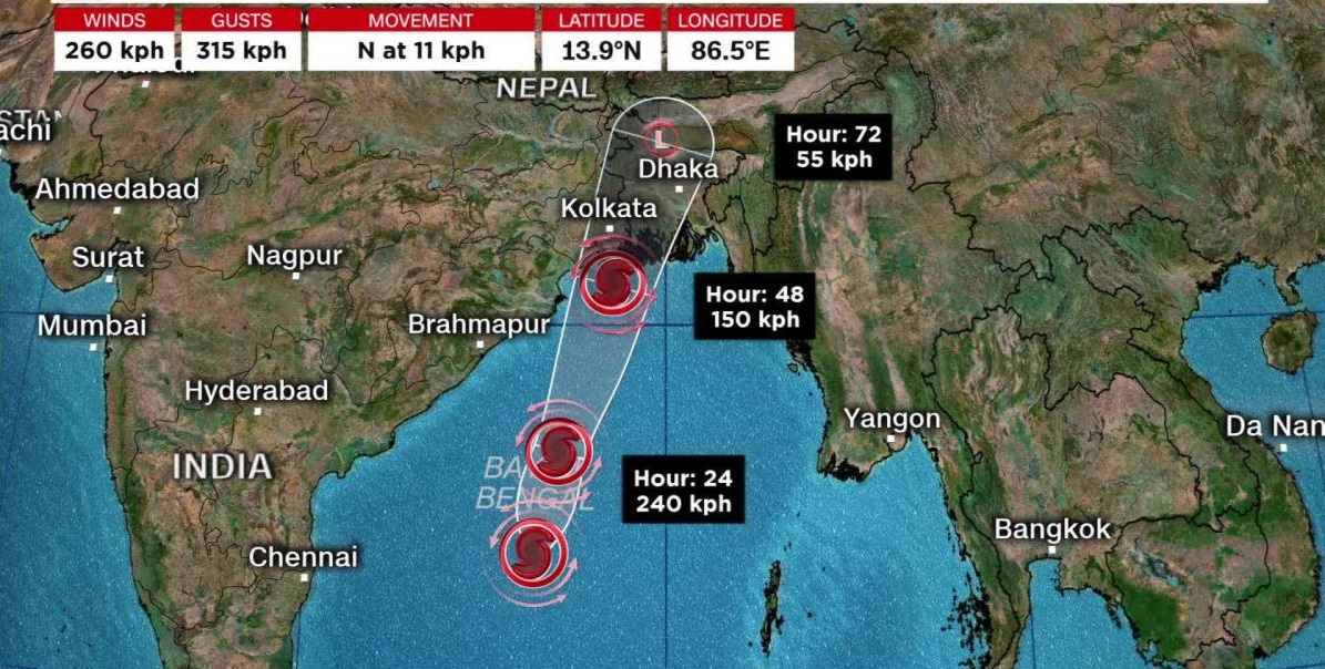 Cyclone Amphan, Odisha and West Bengal to get affected